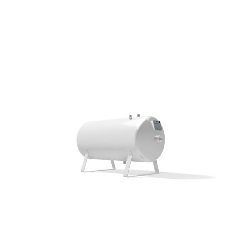 Vacuum vessel 150 litre horizontal -1 bar
