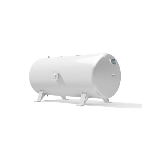 Vacuum vessel 750 litre horizontal -1 bar