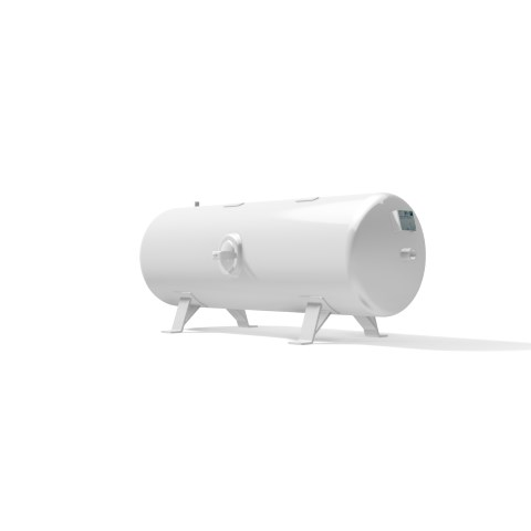 High pressure vessel 350 litre horizontal 17 to 41 bar