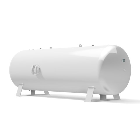 Pressure vessel 10.000 litre horizontal 16 bar