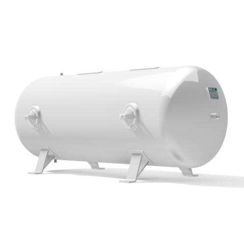 Pressure vessel 1.000 litre horizontal 16 bar