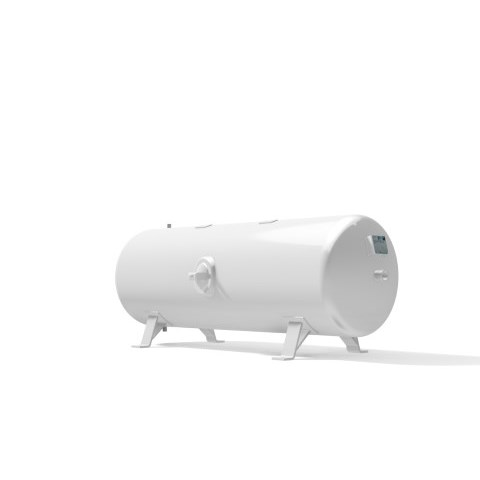 Pressure vessel 500 litre horizontal 16 bar