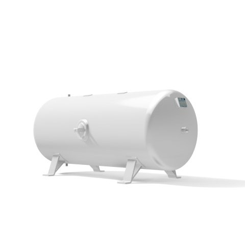 Pressure vessel 750 litre horizontal 16 bar